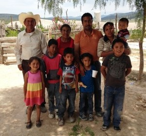 Pastor Reynaldo was happy to see his family and to bring the gospel to his home village.