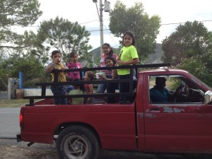 Martin used his truck to transport some of the kids from Reynaldo's church.