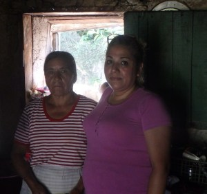 Edalia, the pastor's wife (left) and Ana are cousins.