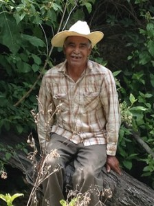 Pastor Santiago is 76 but still walks up and down the mountains with ease.