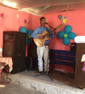 Marcos, the guitarist, is from the Chona and rode in with the True Path Ministry team.