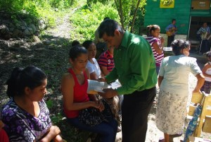 We gave a Bible as this lady made a first time confession of faith in Jesus.