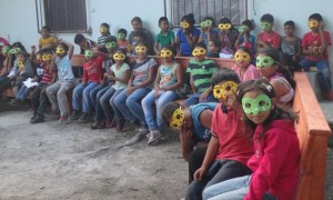 Masks were part of the lesson last week.