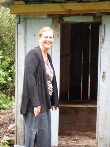 We were happy to see a new outhouse.