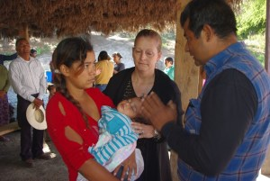 This young mother comitted her life to Jesus.