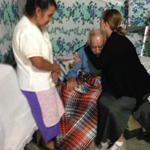 We visited with and prayed for this elderly home-bound man.