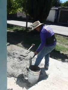 Pastor Jose helped with all aspects of the projects.