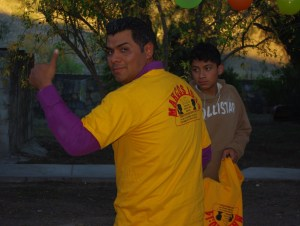 Many got a new club tshirt including Pastor Jose who has been coming each week to teach the kids Christian songs.