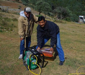 We used Juan's generator to power the sound system.