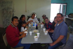 After delivering the meals for Nuevo Corazon we sat down for a meal together.