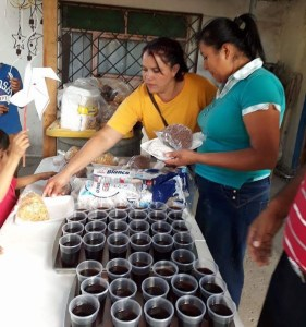 Sandra and Lulu and others helped with the food.