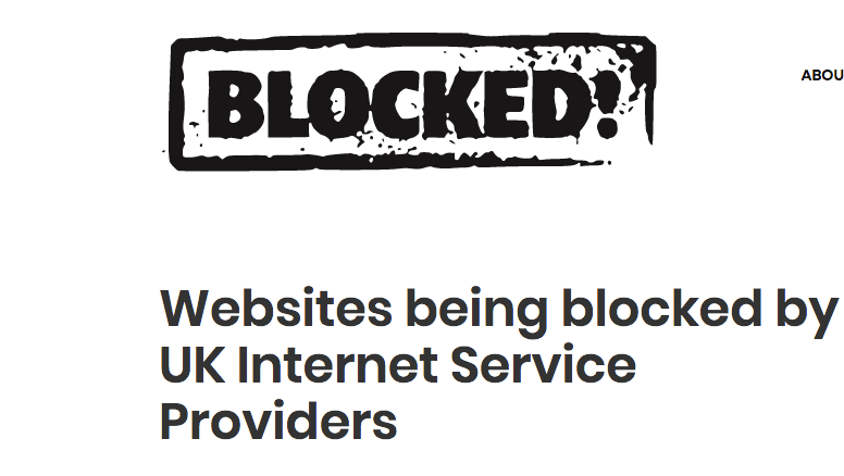 Websites being blocked in the UK - Something rather interesting
