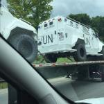 PHOTOS: UN military vehicles seen rolling down Virginia interstate