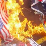 Clinton Supporter Lit Flag on Fire, Attacked Trump Supporter