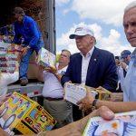 Donald Trump tours flood-ravaged Louisiana with 18-wheeler of supplies