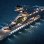 The newest mega-yacht has its own garden and its own beach