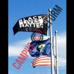 College Puts Black Lives Matter flag alongside American Flag