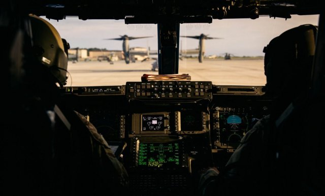 an-air-force-and-a-marine-corps-cv-22-osprey-crew-assigned-to-the-8th-special-operations-squadron-prepares-for-takeoff-during-exercise-emerald-warrior-16-on-may-12-2016