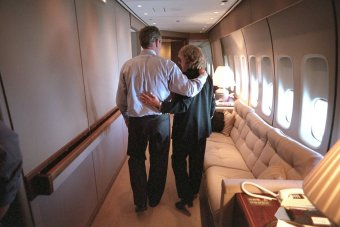 president-bush-and-white-house-counsel-harriet-miers-aboard-air-force-one
