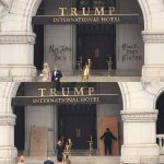 Donald Trump's hotel in DC hit by vandalism