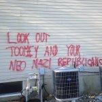 Anti-Republican Vandals Deface Pat Toomey's Neighborhood