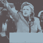 During Downpour, Hillary Shrieks & Pulls Bizarre Dance Moves on Stage; Then Has Coughing Fit