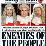 People are furious at the Daily Mail front page branding the Article 50 judges 'Enemies of the People'