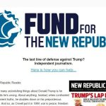 Failing 'New Republic' Begs Donations as 'Last Line of Defense Against Trump'