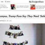 FAKE NEWS: College Trump supporters are not calling for 'safe spaces,' despite claims by New York Times