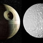That's No Moon … Saturn's Satellite Looks Just Like The Death Star