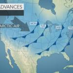 Arctic air to infiltrate US from coast to coast during 1st week of 2017