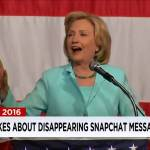 "FLASHBACK: Hillary Clinton ​loves Snapchat… because ""those messages disappear all by themselves"" (VIDEO)"