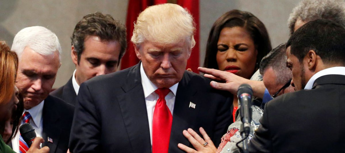 Evangelical Leaders Lay Hands On Trump In Oval Office Prayer Circle
