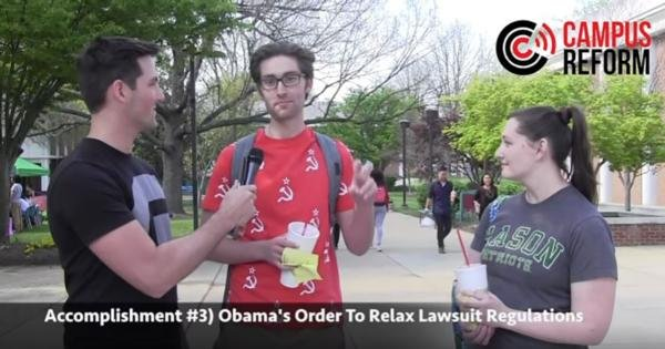 VIDEO: Students despise Obama policies...when credited to Trump