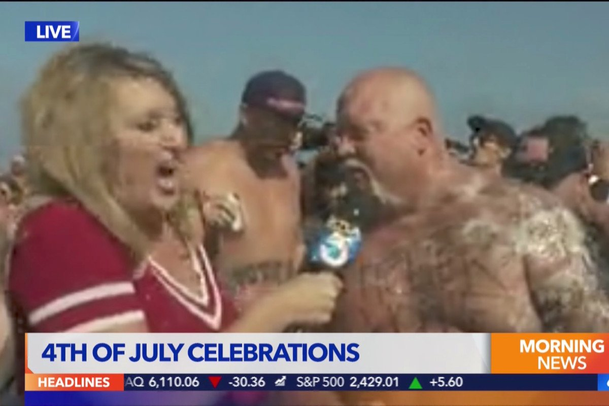 Reporter gets vomited on during live newscast