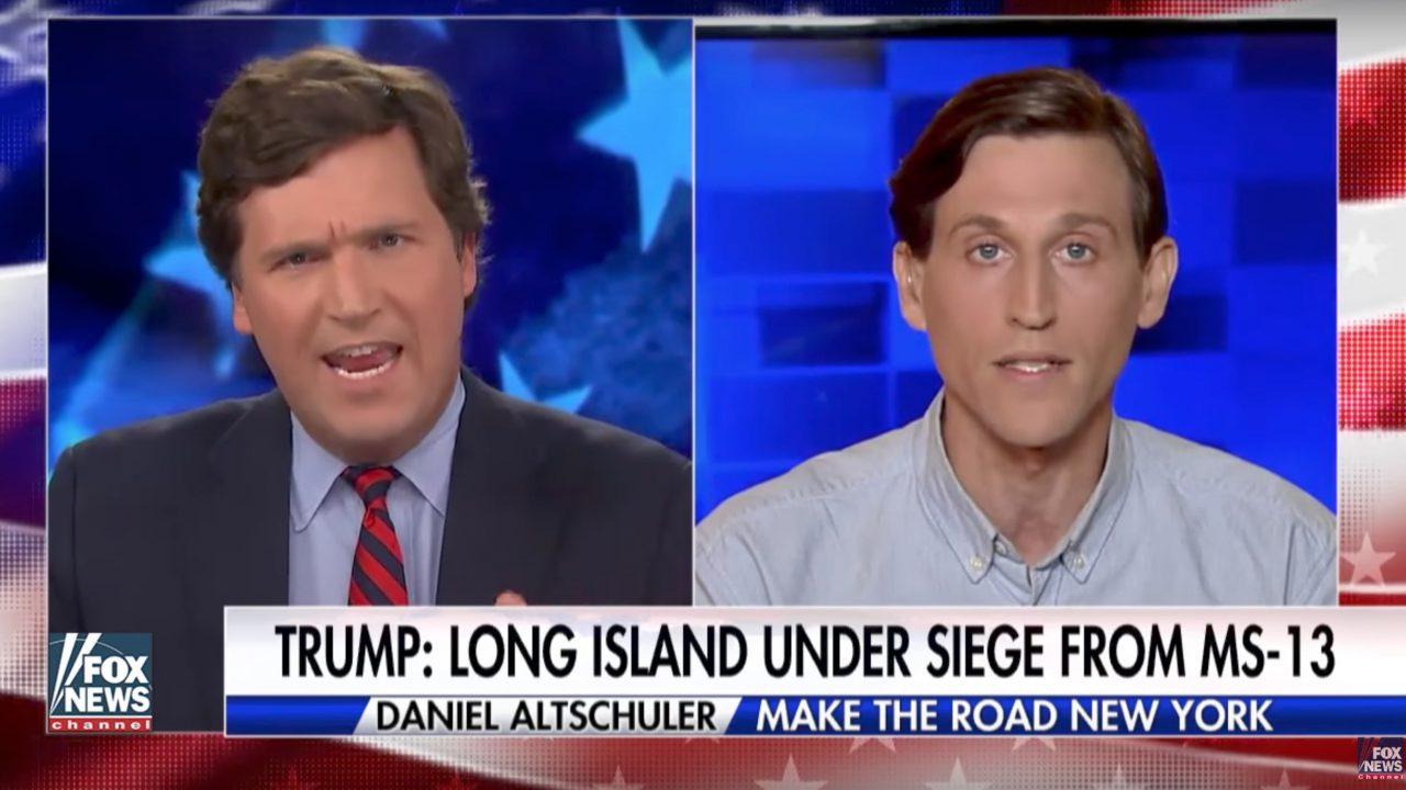 Watch: Tucker Carlson shuts down leftist SJW who says Trump is more dangerous than MS-13