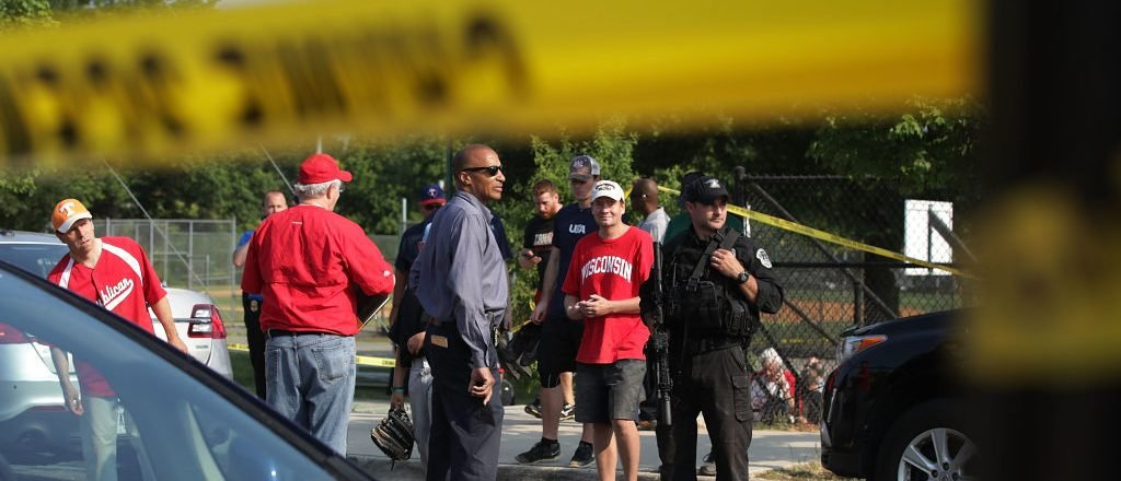 Dramatic Video Shows Gunman And Police Exchanging Fire At GOP Baseball Practice