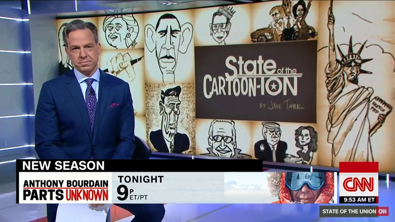 Jake Tapper illustrates, airs questionable cartoon of Trump adviser Steve Bannon