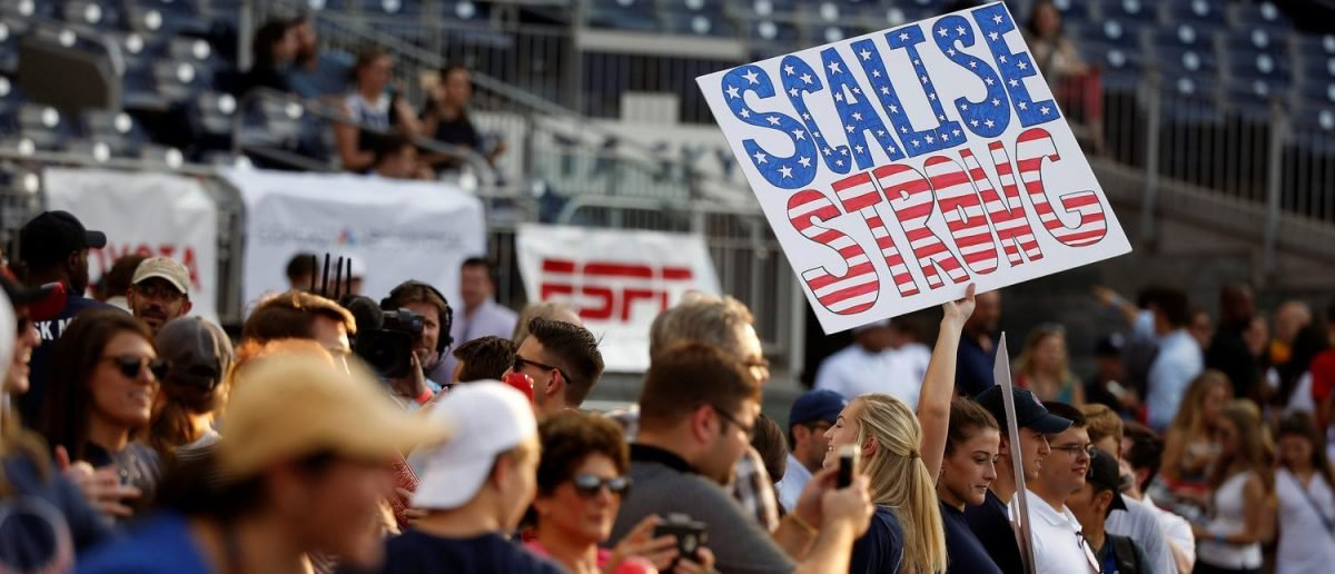 These 7 Signs Helped GOP Fans Honor Scalise At The Congressional Baseball Game