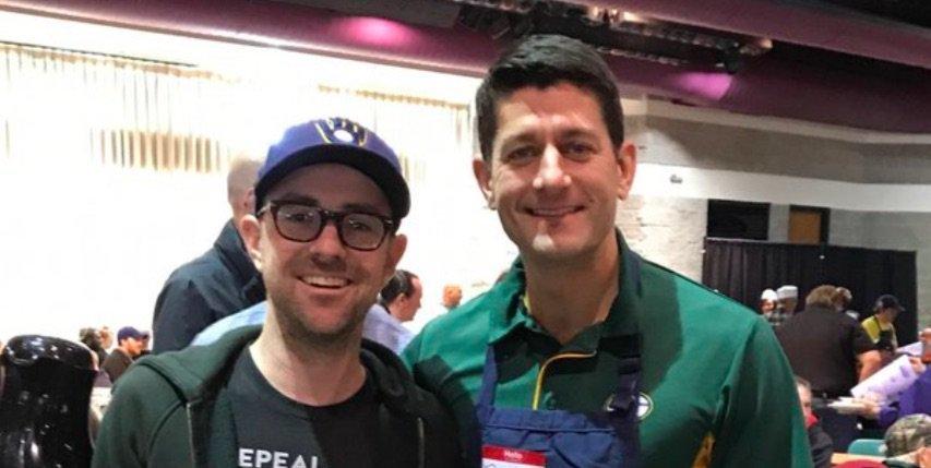 Paul Ryan Photo-Op Goes Downhill Fast When the Other Guy Unzips His Sweatshirt