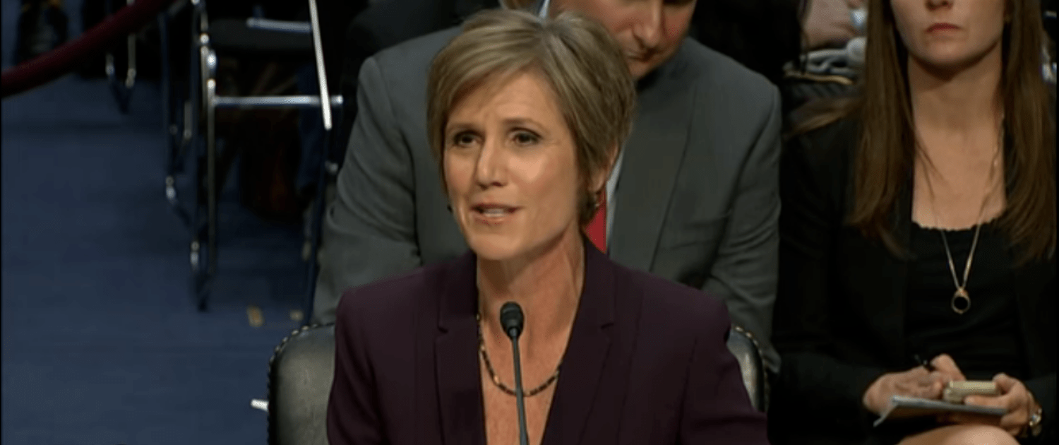 Yates On Trump: 'He's Ripping The Blindfold Off Lady Justice'