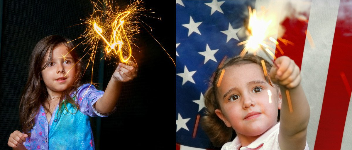 Doctors Urge BUBBLES AND POM-POMS Instead Of Sparklers For 4th Of July