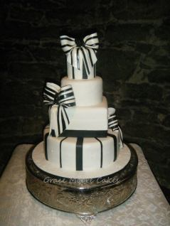 My Fair Lady Wedding Cake Black White