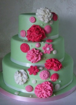 Pom Pom Wedding Cake