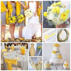 Yellow and gray colour inspiration