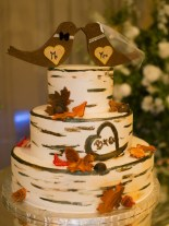 Tree inspired wedding cake autumn
