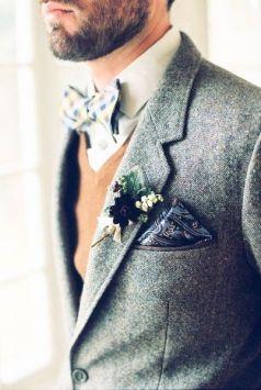 Tweed grooms look