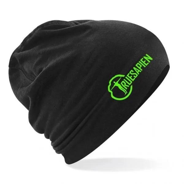 truesapien-beanie-running-hat-black-green