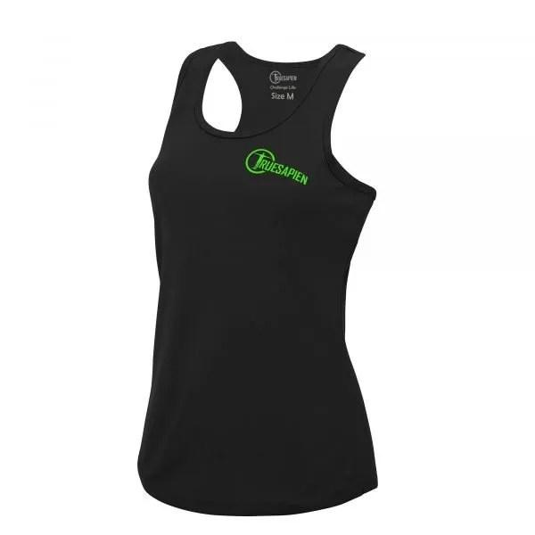 truesapien-womens-gym-fitness-running-vest-wicking-black-green