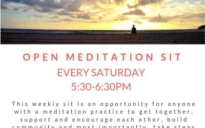 Open Meditation Sit Saturdays